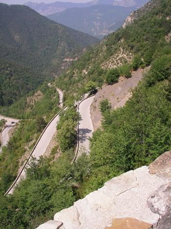 Higher up Col de Turini.