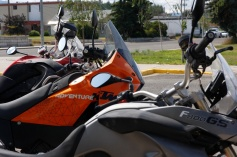 The Fleet; BMW F800GS, KTM 990 Adventure, BMW R1200GS Adventure