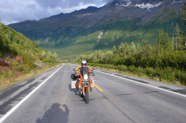 KTM 990 Adventure on the move.