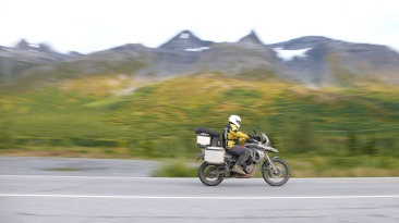 BMW F800GS bound for the wet.