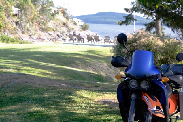 Glenn's KTM shuns the Rockwater's comfy seating