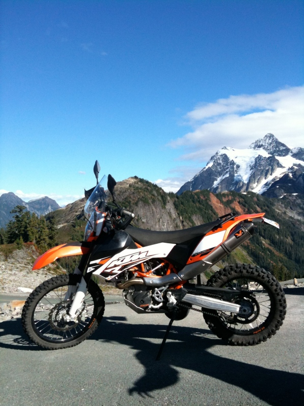 690 Enduro at the Top of Baker