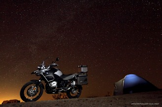BMW R1200GS at Night