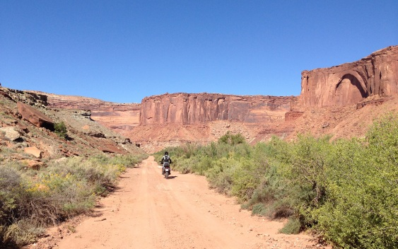 Into a box canyon, and then up the side of it