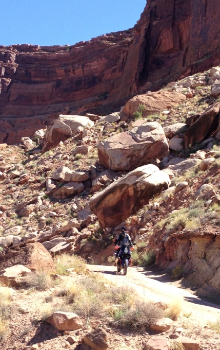 Lots of large rockfalls